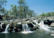 Swimming in Fossilbrook Creek Falls